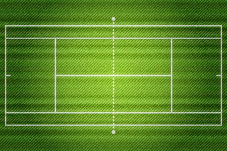 Realistic Denim texture of Tennis field element vector illustration design concept