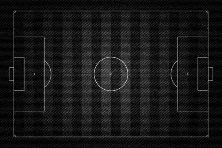 Realistic Black Denim texture of Soccer field element vector illustration design concept