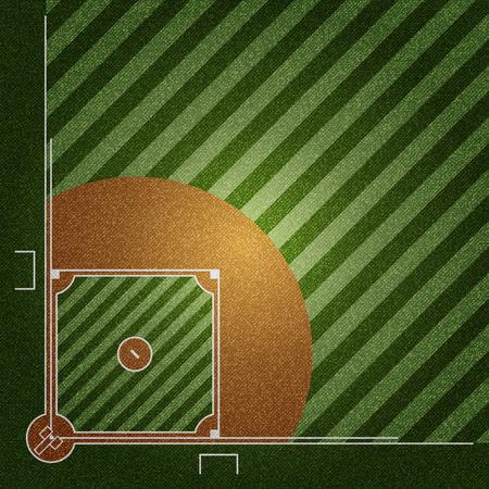 Realistic Denim texture of Baseball field element vector illustration design concept