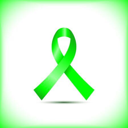 Ruban de sensibilisation vert citron vert isolé sur fond blanc icône vector design graphique