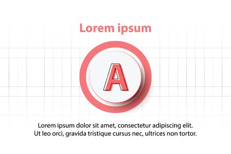 Cercle de papier 3D blanc avec fond de cercle rouge pour la présentation de site Web