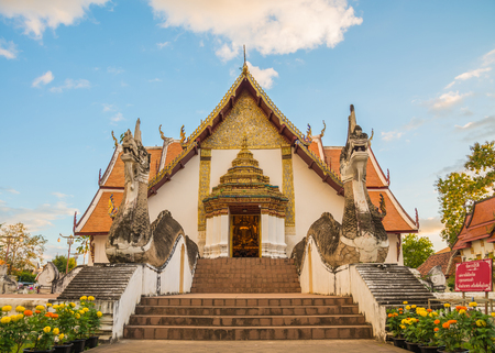 Wat Phumin which have famous ancient wall mural in Nan Thailand