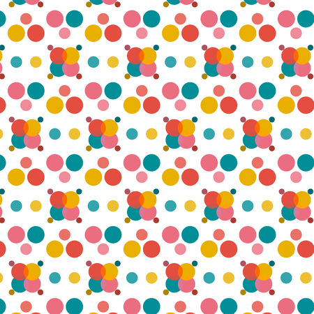 Abstract colorful dots on white background for vector background concept idea