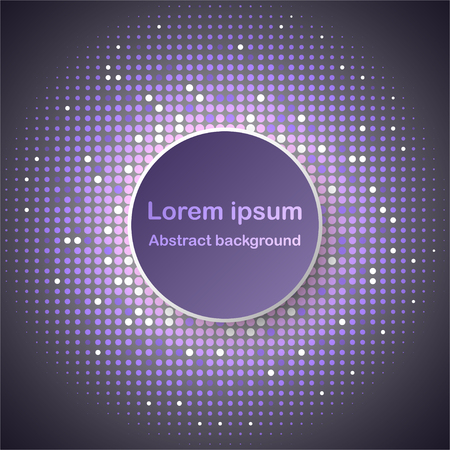3D purple circle paper vector design on glitter halftone background for abstract background graphic vector design concept idea