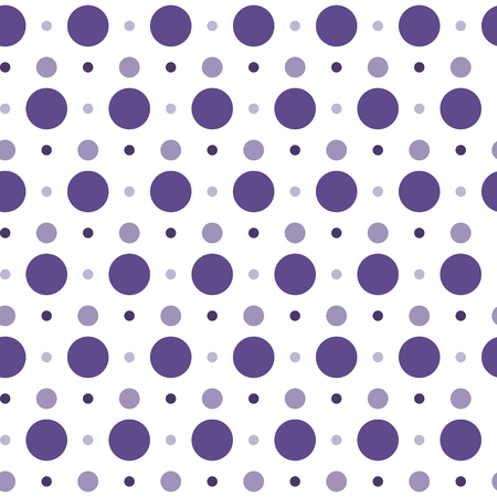 Purple polka dots pattern on white background for background vector graphic design concept Illustration