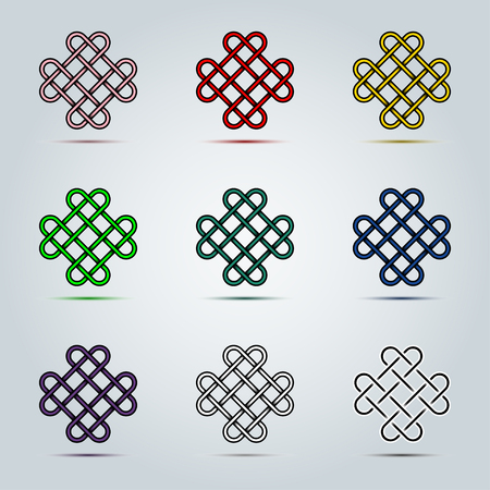 Abstract colorful of Celtic Irish knots icon vector graphic design concept idea