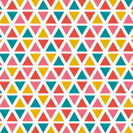 Colorful triangle on white background for vector graphic design idea concept Illustration