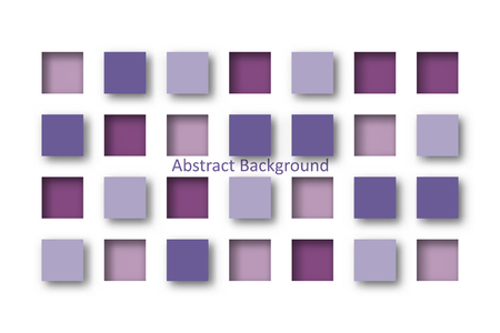Abstract 3d purple square tile in paper cut concept for Background idea graphic design vector  イラスト・ベクター素材