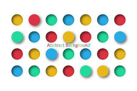 Abstract 3d colorful circle tile in paper cut concept for Background idea graphic design vector Illustration