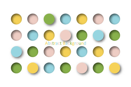 Abstract 3d colorful pastel circle tile in paper cut concept for Background idea graphic design vector Illustration
