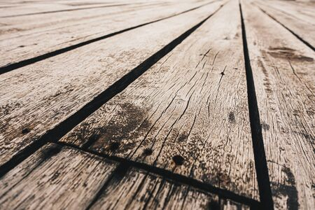Vintage concept of Wooden floor in perspective view for background design