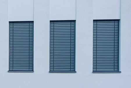 Three of the shade stripe curtain windows pattern for abstract concept