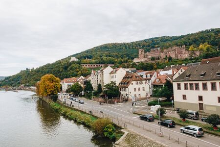 HEIDELBERG, GERMANY - OCTOBER 12 Heidelberg Castle on October 12, 2019. Heidelberg Castle or Heidelberger Schloss is a ruin in Germany. The Castle ruins are the Renaissance structure.