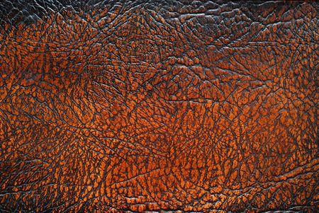 old macro: Textura de cuero marr�n de muebles antiguos. Foto de archivo
