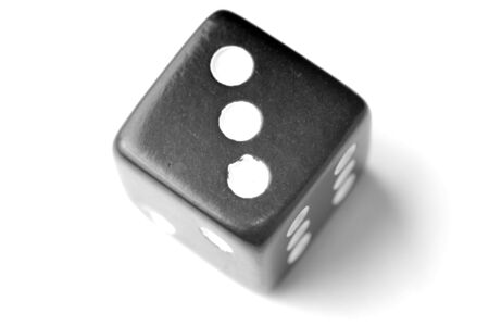 exists: Black Die on White - Three at top. Similar images of 1-6 exists Stock Photo
