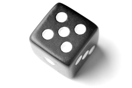 exists: Black Die on White - Five at top. Similar images of 1-6 exists