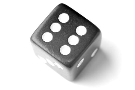 exists: Black Die on White - Six at top. Similar images of 1-6 exists