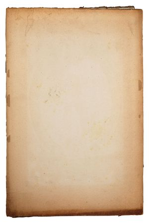 textured paper background: Old yellow textured paper background with scratches and tattered edge Stock Photo