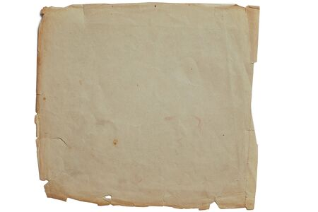 Old yellow textured paper background with scratches and tattered edge Stock Photo - 5923235