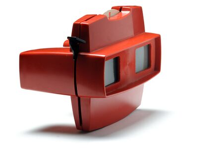 stereoscope: Viewmaster steroscopic toy isolated on white background