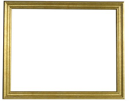 30c2bac41794 Classic gold frame isolated on white background.
