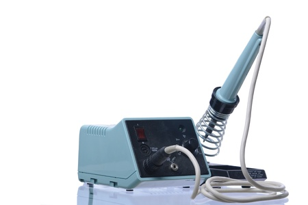 d77e1364971d A soldering iron isolated on a white background Stock Photo