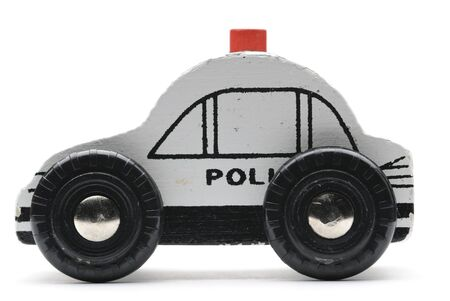 b8a2d329483c Toy police car isolated on white background. Stock Photo