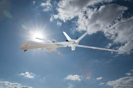 military drone in the sky