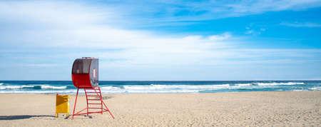 Sand beach and blue sky. Gangwon-do Beach, Republic of Korea.