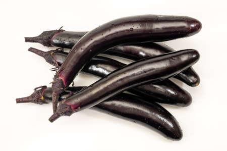 eggplant or aubergine vegetable on white background
