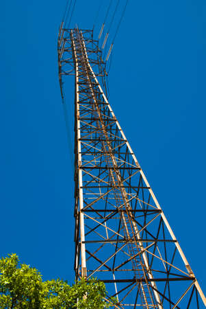 Electrical Power Tower, New Orleans USA Stock Photo