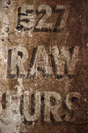Old Building Address Sign Imagens