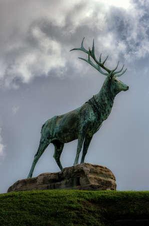 Elk Monument in Cemetery New Orleans LA