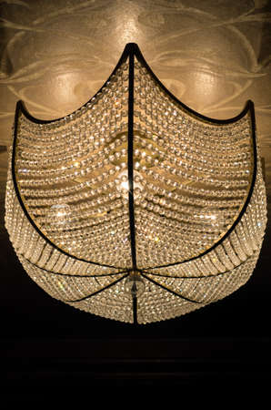 Old Ceiling Lamp Shade B&W-2 Reklamní fotografie