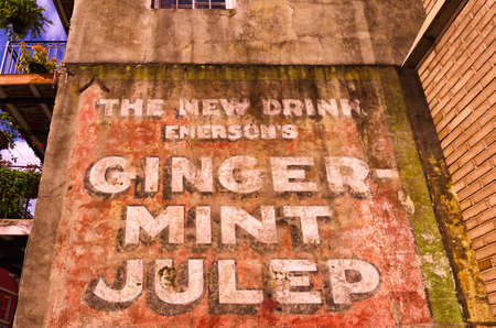 Ginger-Mint Julep Sign New Orleans