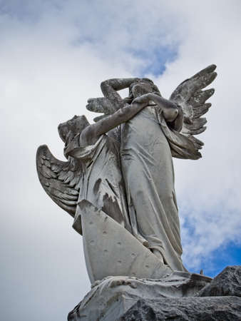 New Orleans, LA USA - Jun 2, 2017  -  Angels on Top of Tomb Editorial