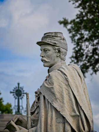 New Orleans, LA USA - Jun 2, 2017  -  Monument for a Civil War General