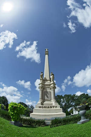 New Orleans, LA USA - Jun 2, 2017  -  Tall Monument Grave Marker Editorial