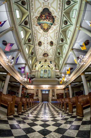 St. Louis Cathedral with Fisheye Lens