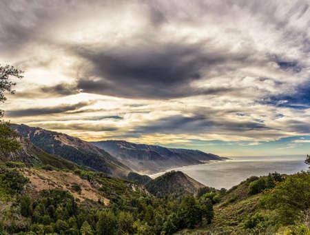 big sur: Landscape of Big Sur Stock Photo