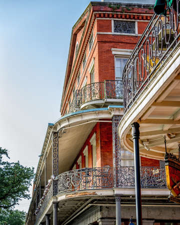 New Orleans, LA USA - June 30, 2015:  Sample of New Orleans French Quarter Architecture.