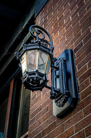 Lamp on Building in The French Quarter