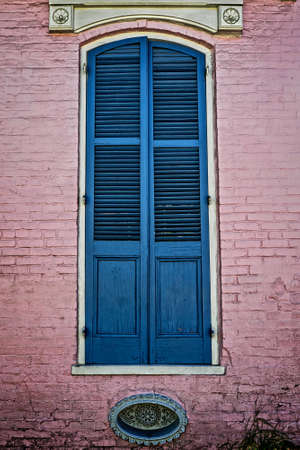 New Orleans LA USA -  Sep. 13, 2016  -  This is a  window shutter of a building located in the Frech Quarter New Orleans LA. Stock Photo