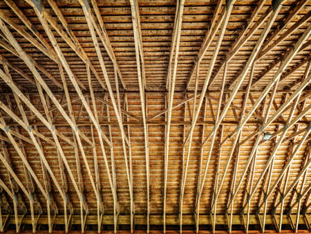 tx: Patterned of the Underside of a Covered Bridge in Southeastern TX