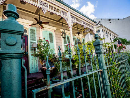 These are homes in the French Quarter of New Orleans.  Many interesting homes are located in the French Quarter!
