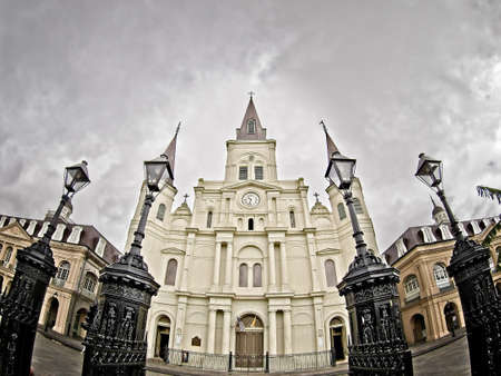 St. Louis Cathedral in the French Quarter taken with a Fisheye Lens