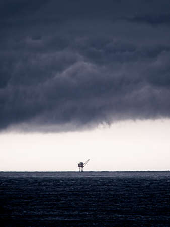 Oil Platform with Storm Clouds 3