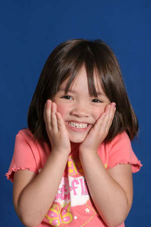 Young girl with cute expression Stock Photo