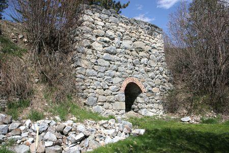 kiln: An old limestone kiln.