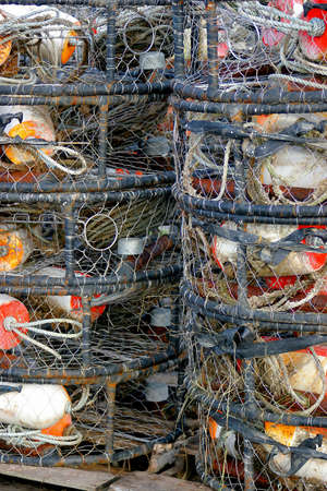 commercial fishing: Commercial fishing gear, Stock Photo